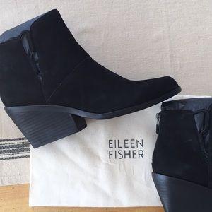 Brand new Eileen Fisher block heel bootie